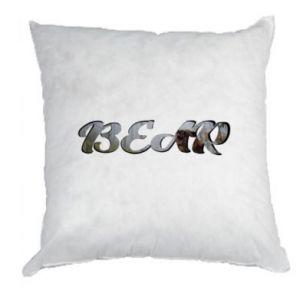 """Poduszka Napis """"Bear"""" - PrintSalon"""