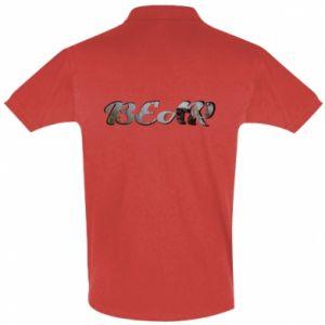 "Koszulka Polo Napis ""Bear"" - PrintSalon"