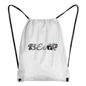 "Backpack-bag Inscription ""Bear"""