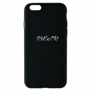 "Etui na iPhone 6/6S Napis ""Bear"" - PrintSalon"