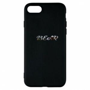 "Etui na iPhone 7 Napis ""Bear"" - PrintSalon"