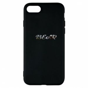 "Etui na iPhone 8 Napis ""Bear"" - PrintSalon"