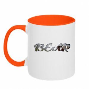 "Two-toned mug Inscription ""Bear"""