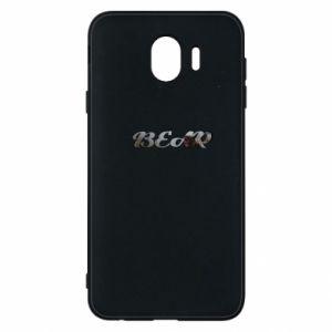 "Phone case for Samsung J4 Inscription ""Bear"""