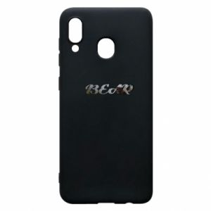 """Phone case for Samsung A30 Inscription """"Bear"""""""