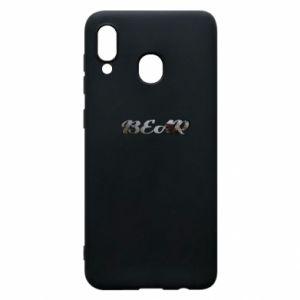 "Etui na Samsung A30 Napis ""Bear"" - PrintSalon"