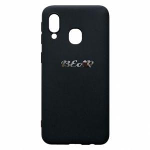 """Phone case for Samsung A40 Inscription """"Bear"""""""