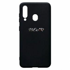 """Phone case for Samsung A60 Inscription """"Bear"""""""