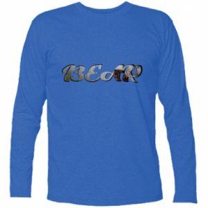 """Koszulka z długim rękawem Napis """"Bear"""" - PrintSalon"""