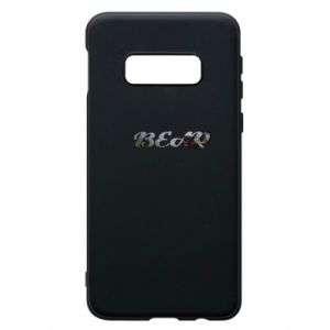 """Etui na Samsung S10e Napis """"Bear"""" - PrintSalon"""