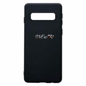 """Phone case for Samsung S10 Inscription """"Bear"""""""