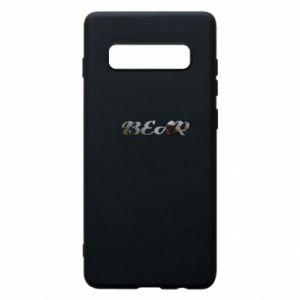 """Phone case for Samsung S10+ Inscription """"Bear"""""""