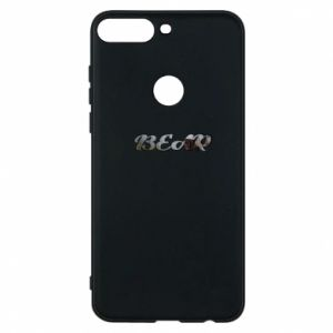 """Phone case for Huawei Y7 Prime 2018 Inscription """"Bear"""""""