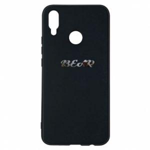 "Phone case for Huawei P Smart Plus Inscription ""Bear"""