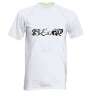 "Men's sports t-shirt Inscription ""Bear"""
