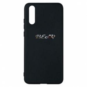 "Etui na Huawei P20 Napis ""Bear"" - PrintSalon"