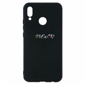 "Etui na Huawei P20 Lite Napis ""Bear"" - PrintSalon"