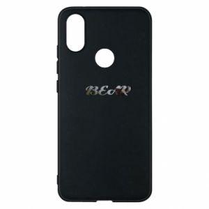 "Phone case for Xiaomi Mi A2 Inscription ""Bear"""