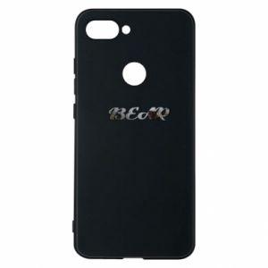 "Etui na Xiaomi Mi8 Lite Napis ""Bear"" - PrintSalon"