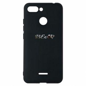 "Phone case for Xiaomi Redmi 6 Inscription ""Bear"""