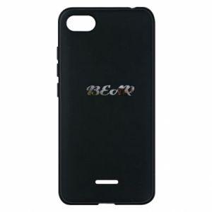 "Phone case for Xiaomi Redmi 6A Inscription ""Bear"""