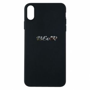 """Phone case for iPhone Xs Max Inscription """"Bear"""""""