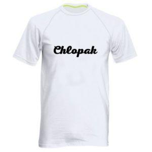 Męska koszulka sportowa Napis: Chłopak