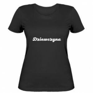 Damska koszulka Napis: Dziewczyna