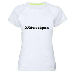 Damska koszulka sportowa Napis: Dziewczyna