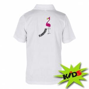 Dziecięca koszulka polo Napis: Flamingo