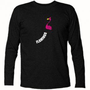 Koszulka z długim rękawem Napis: Flamingo