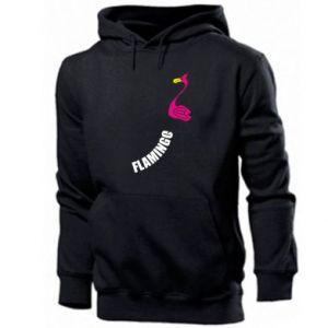 Męska bluza z kapturem Napis: Flamingo