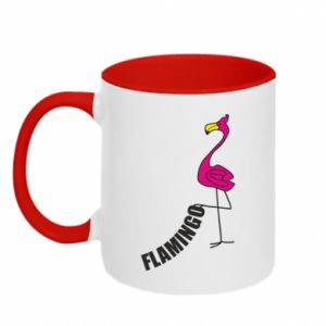 Kubek dwukolorowy Napis: Flamingo