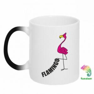 Kubek-kameleon Napis: Flamingo