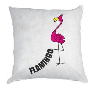 Poduszka Napis: Flamingo