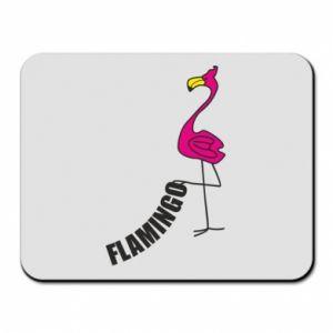 Podkładka pod mysz Napis: Flamingo