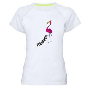 Damska koszulka sportowa Napis: Flamingo