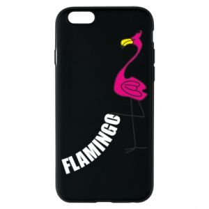 Etui na iPhone 6/6S Napis: Flamingo