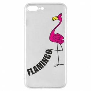 Etui na iPhone 7 Plus Napis: Flamingo