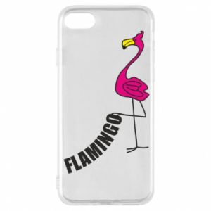 Etui na iPhone 8 Napis: Flamingo