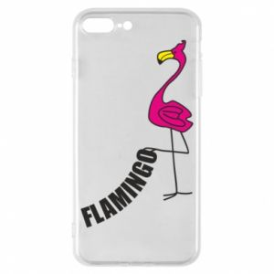 Etui na iPhone 8 Plus Napis: Flamingo
