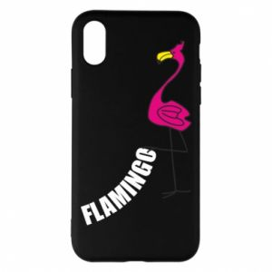 Etui na iPhone X/Xs Napis: Flamingo