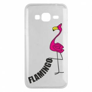 Etui na Samsung J3 2016 Napis: Flamingo