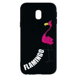 Etui na Samsung J3 2017 Napis: Flamingo