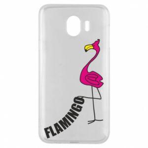 Etui na Samsung J4 Napis: Flamingo