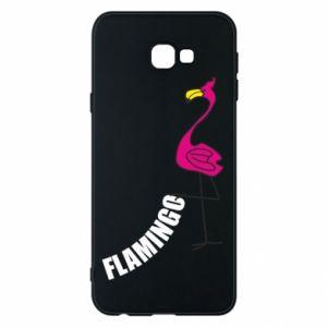 Etui na Samsung J4 Plus 2018 Napis: Flamingo