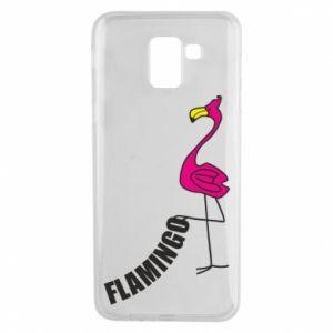 Etui na Samsung J6 Napis: Flamingo