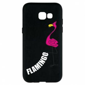 Etui na Samsung A5 2017 Napis: Flamingo