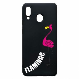 Etui na Samsung A20 Napis: Flamingo