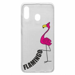 Etui na Samsung A30 Napis: Flamingo